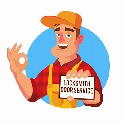 Locksmith Cartoon Mechanic Vector Emergency Service Professional