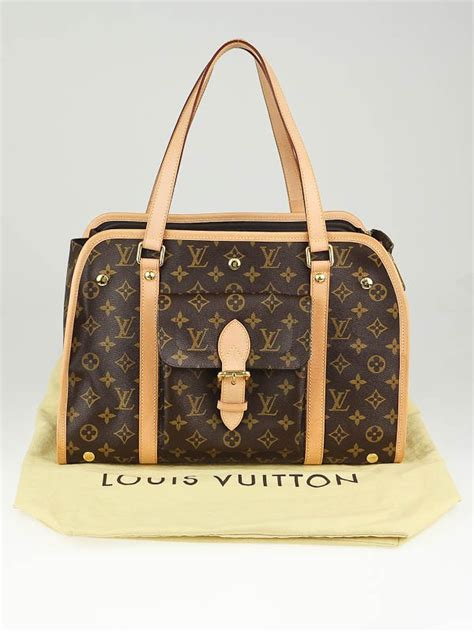 louis vuitton monogram canvas baxter pm dog carrier bag