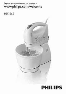 Philips Hr 1565 Mixer Download Manual For Free Now