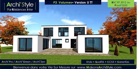 maison moderne en u maison moderne toit plat en forme de u