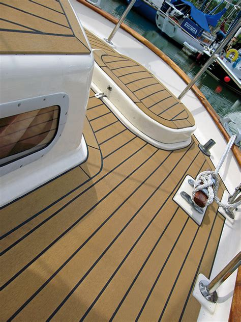 Boat Decking Material by Synthetic Teak Decking For Boat In Australia Discount