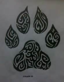 Tribal Wolf Paw Drawings