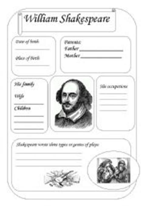 william shakespeare worksheet  svetic