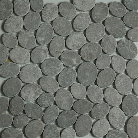 sliced pebble mosaic tile dark grey sliced stone pebble mosaic tile