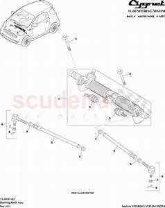 Aston Martin Cygnet Steering Rack Assembly Parts