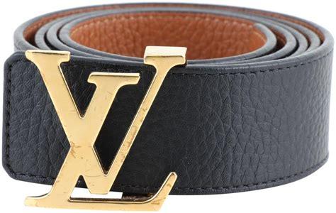 louis vuitton black men lv initiales reversible belt tradesy