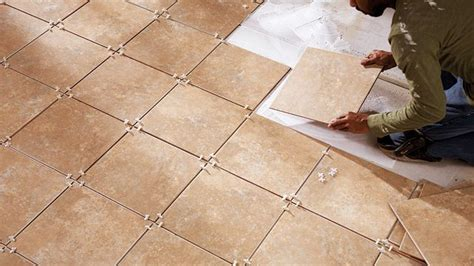 How To Lay A Tile Floor In A Bathroom by How To Lay Tile Getting The Lines Floors