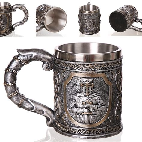 With a valid ein and/or business ***for further information about wholesale shipments, including free shipping qualifications by region. 3d Axe Epacket Handle Viking Warrior 450ml Skull Mug Gothic Tankard Halloween Decoration ...
