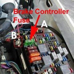 fuse location  trailer brake controller    chevy