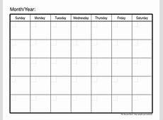 Free Printable Monthly Calendar 2018