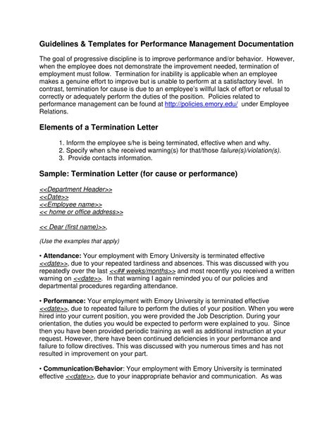 9+ Examples of Employee Termination Letter Template - PDF