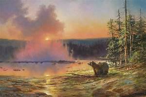 Yellowstone: Twilight at Upper Geyser - Stefan Baumann