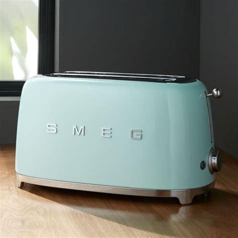 smeg mint green  slice toaster reviews crate  barrel