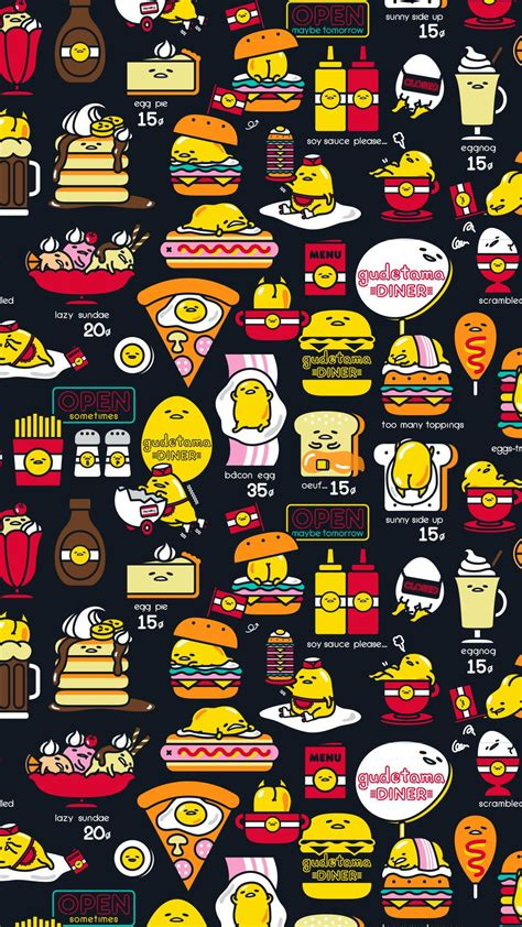 A cute wallpaper i stumbled upon purely by accident. #Gudetama phone wallpaper (*´꒳`*)   Sanrio wallpaper, Gudetama, Cute wallpapers