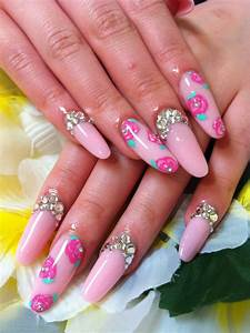 acrylic nails i doing them different style