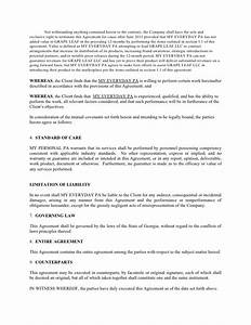 standard consulting agreement resume template sample With standard consulting agreement template