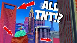 MINECRAFT EXPLODING TNT CITY TNT WARS YouTube