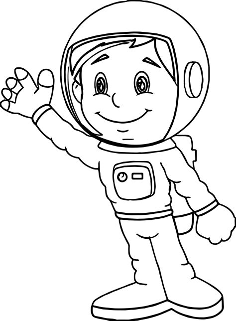 Astronaut Boy Coloring Page Wecoloringpagecom