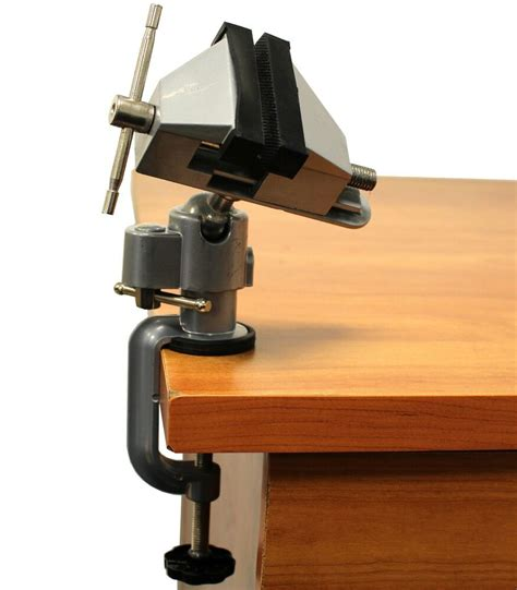 vises bench swivel  clamp  tabletop vise tilt rotates