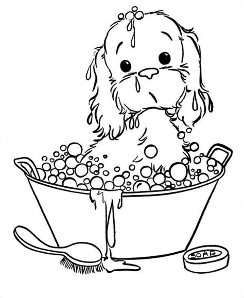 puppy coloring pages jpg ai illustrator