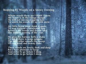 191. poetry...Stopping by the Woods on a Snowy Evening by ...