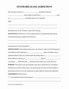 free rental lease agreement templates residential With housing lease template