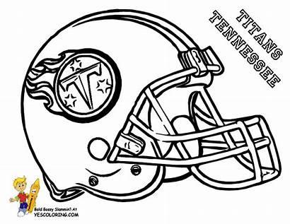 Coloring Football Titans Helmet Tennessee Nfl Helmets