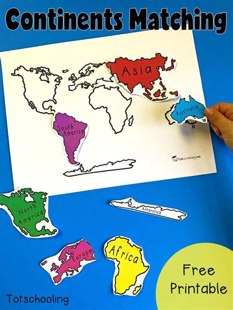 7 continents of the world matching activity teaching 567   c4b4667e4031f0d9c67472046bed200a