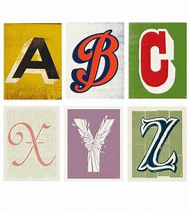 individual alphabet letter prints alphabet letters With individual letter pictures art