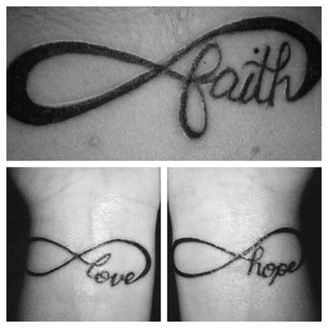 infinite faith hope  love tattoos burlap  butter