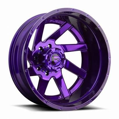 Dually Wheels Purple Lug Candy Rear Renegade