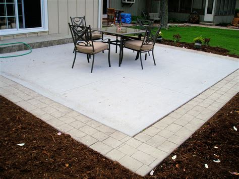 concrete patio with border something similar to this