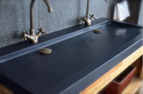 bonde pour evier de cuisine vasques en granit noir yate shadow à poser 120x50