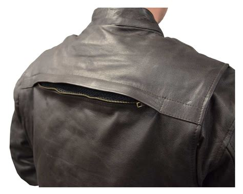 Cowhide Leather Jacket - redline mens cowhide leather touring motorcycle jacket w