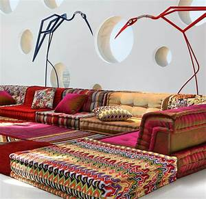 le canape marocain qui va bien avec votre salon archzinefr With tapis oriental avec canapés en tissus design