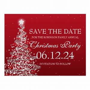 Christmas Party Save The Date Postcards