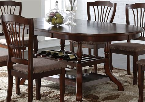 bixby espresso oval extendable dining room set