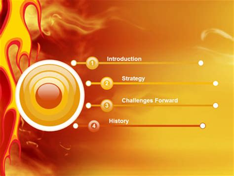 fire flame powerpoint template backgrounds