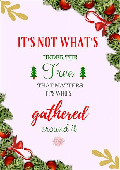 Christmas Simple Quotes Inspirational Merry Thoughts Stress