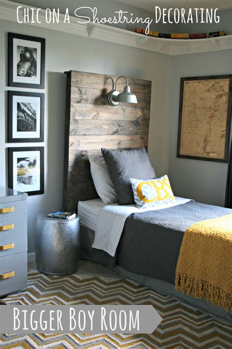 how to decorate a boys room chic on a shoestring decorating bigger boy room reveal