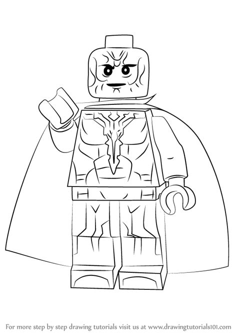 learn how to draw lego vision lego step by step