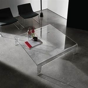 Table Basse Carrée Design : table basse design carr e en verre frog sovet 4 pieds tables chaises et tabourets ~ Teatrodelosmanantiales.com Idées de Décoration
