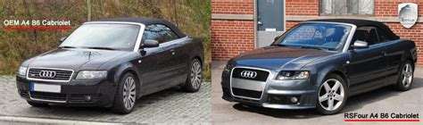 rs4 kit styling audi a4 8h cabriolet performance and aftermarket parts hofele