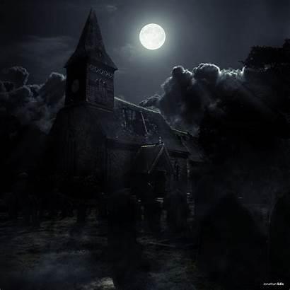 Eerie Graveyard Deviantart Horror Digital Hipwallpaper Castle