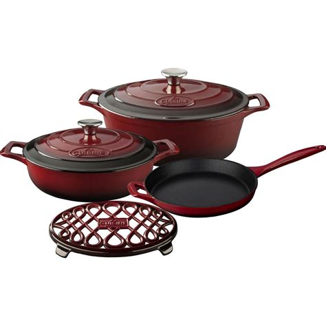 la cuisin la cuisine 5 enameled cast iron cookware set with