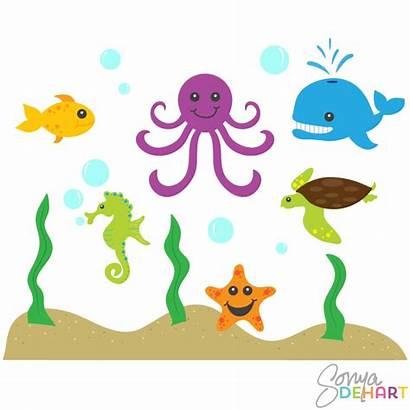 Clipart Sea Creature Creatures Clip Ocean Animals