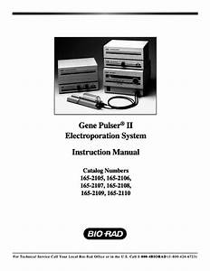 Gene Pulser Ii Instruction Manual 165