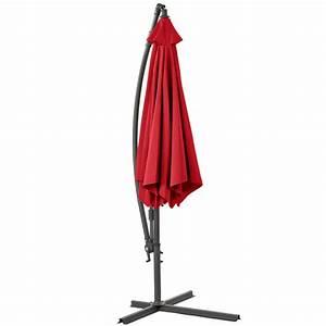 Jardiland Parasol Déporté : parasol d port 3m framboise parasol inclinable parasol ~ Premium-room.com Idées de Décoration