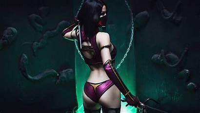 Mileena Kombat Mortal Cosplay Deviantart Kitana Bikini