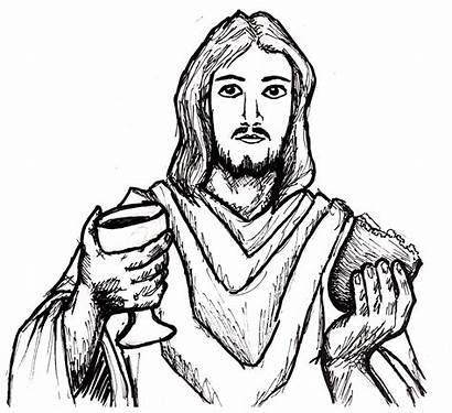 Jesus Drawing Supper Last Line Easy Sketch